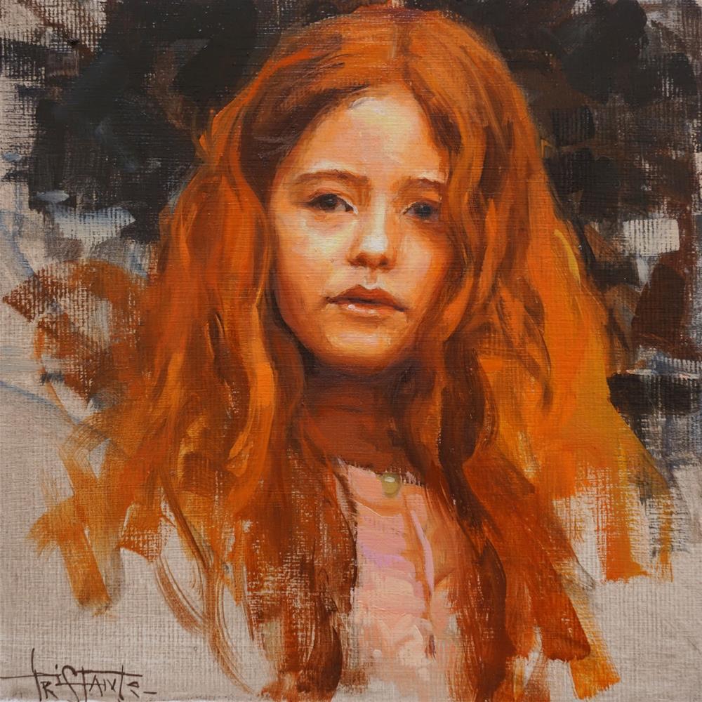 """""""Portrait study"""" original fine art by Víctor Tristante"""