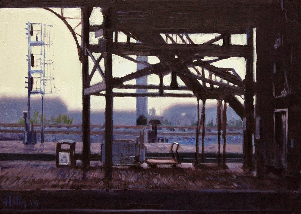 """Station Shadows, 2"" original fine art by Ski Holm"