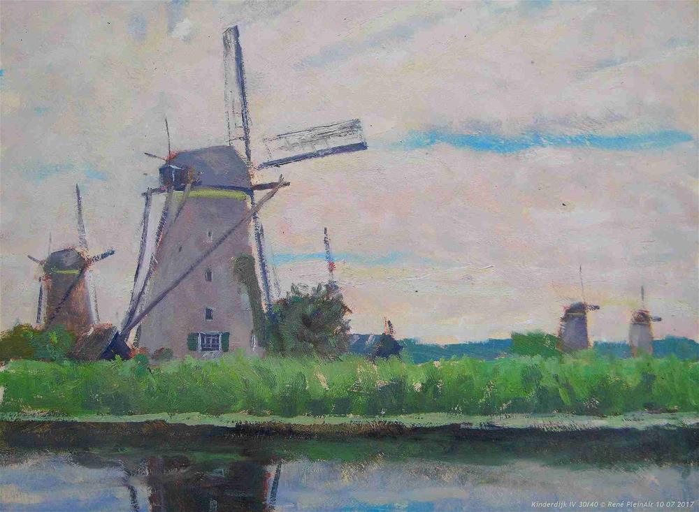 """Kinderdijk IV The Netherlands"" original fine art by René PleinAir"