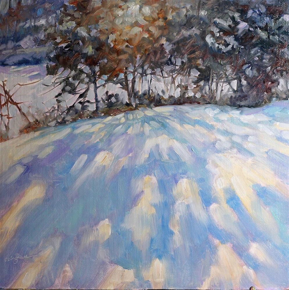 """Wilson Lake after the Snow"" original fine art by Carlene Dingman Atwater"