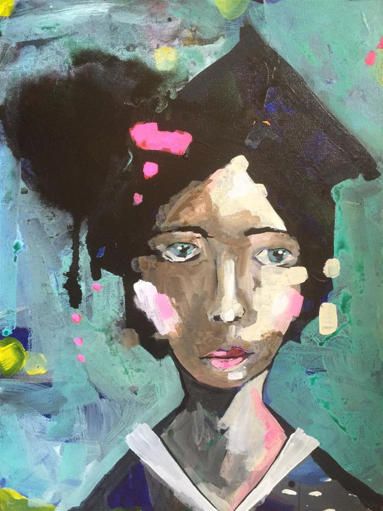 """243 Valedictorian"" original fine art by Jenny Doh"
