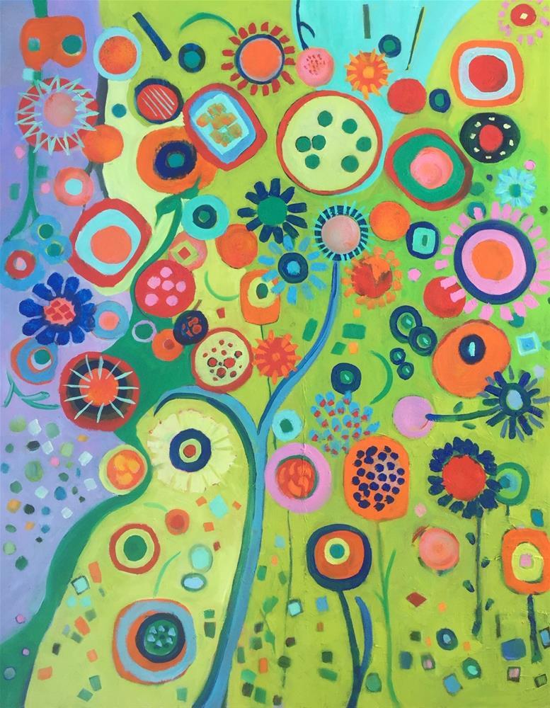 """""""Fantasy Garden"""" original fine art by Amy Whitehouse"""