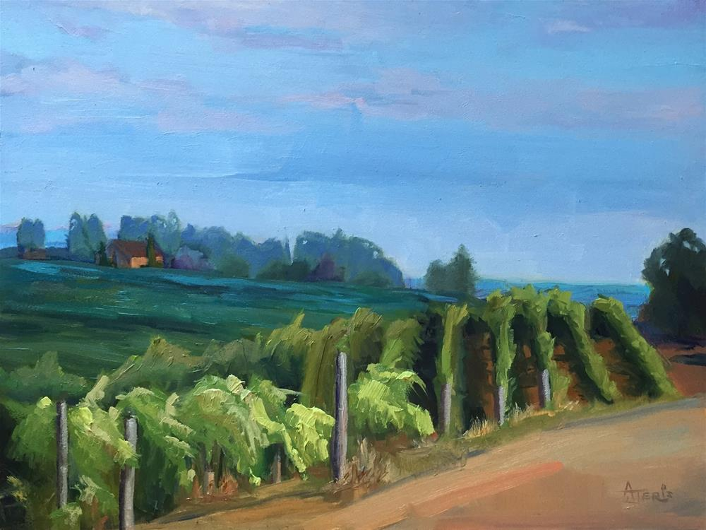 """Vineyards Up North"" original fine art by Andrea Jeris"