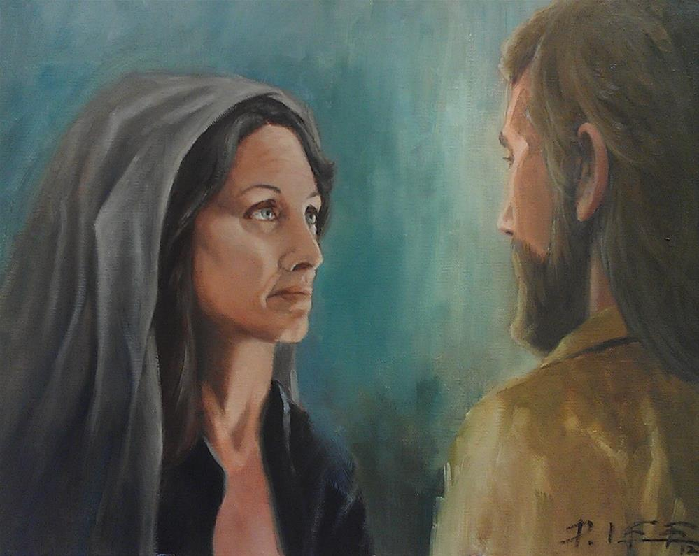 """""""Mary"""" original fine art by Peter Lee"""