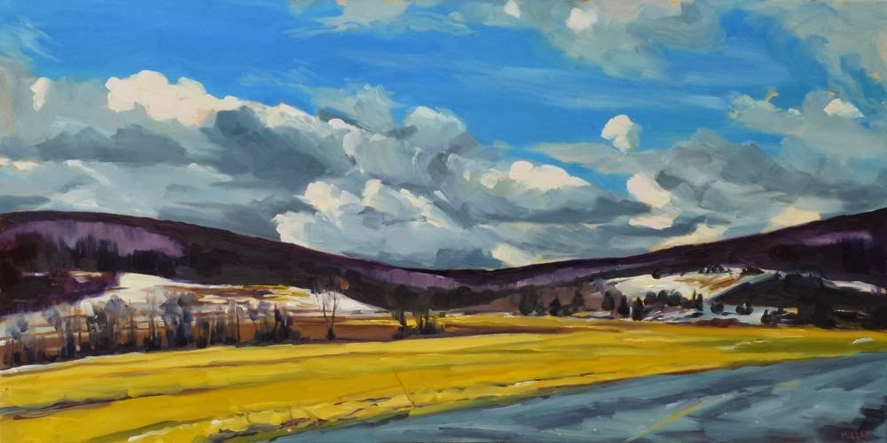 """Upstate, Late Winter"" original fine art by Jessica Miller"
