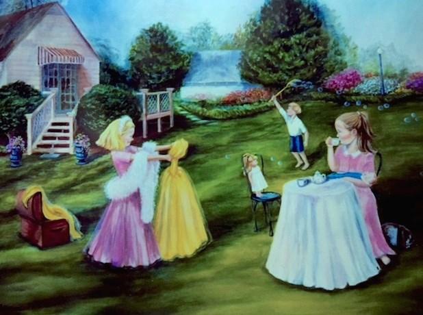 """Tea Time"" original fine art by Barbara Whitmire"
