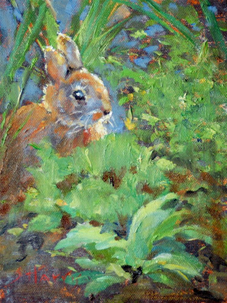 """A cute Bunny"" original fine art by Sandra L Harris"