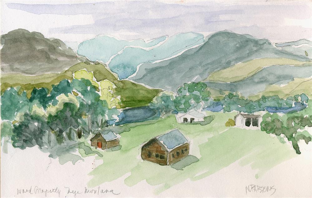 """Wood Ranch, Nye II"" original fine art by Nancy Parsons"