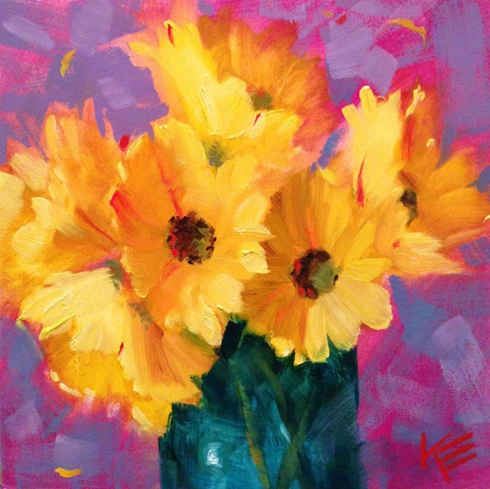 """Sunshine"" original fine art by Krista Eaton"