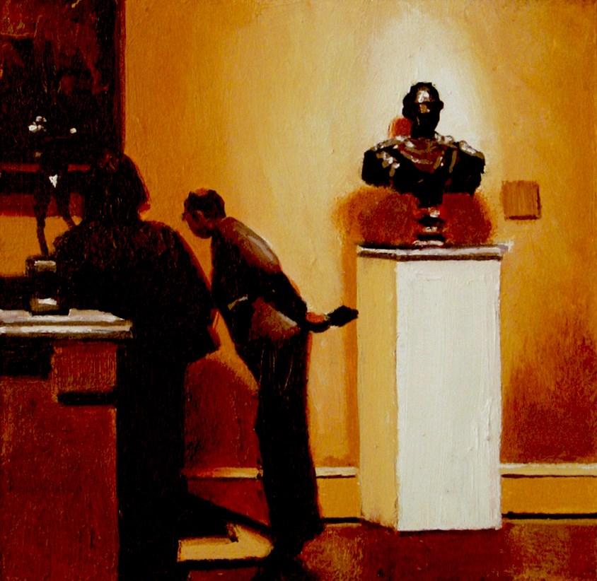 """Museum Hall- Art Within Art Painting Of People Enjoying Art In Museum"" original fine art by Gerard Boersma"