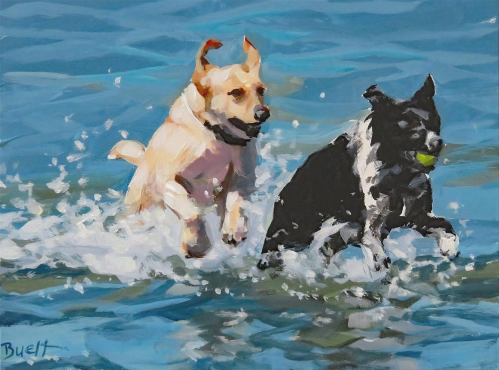 """Race To Shore"" original fine art by Shari Buelt"