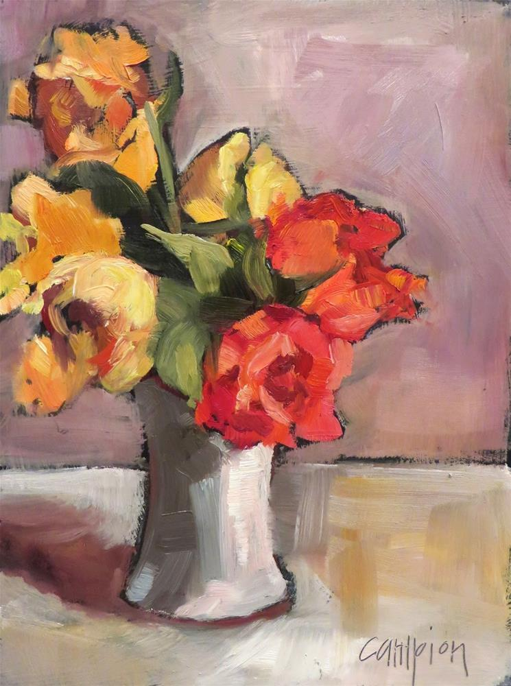 """839 Practice"" original fine art by Diane Campion"