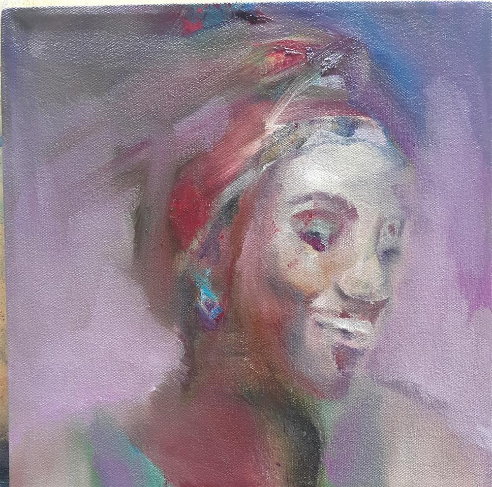 """""""Joy"""" original fine art by Rentia Coetzee"""