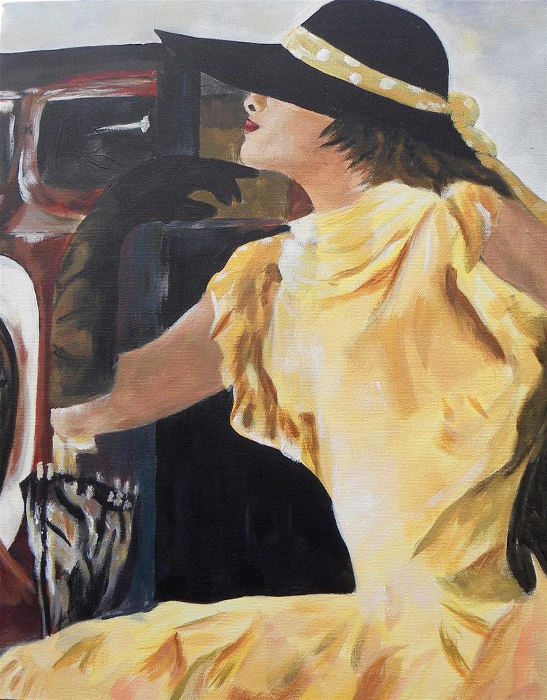 """Lady of Leisure"" original fine art by cheryl buhrman"