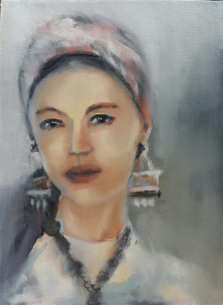 """""""Elena"""" original fine art by Rentia Coetzee"""