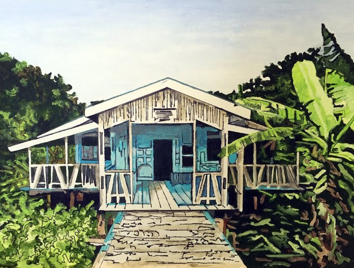 """The Assembly Hall"" original fine art by Nan Johnson"