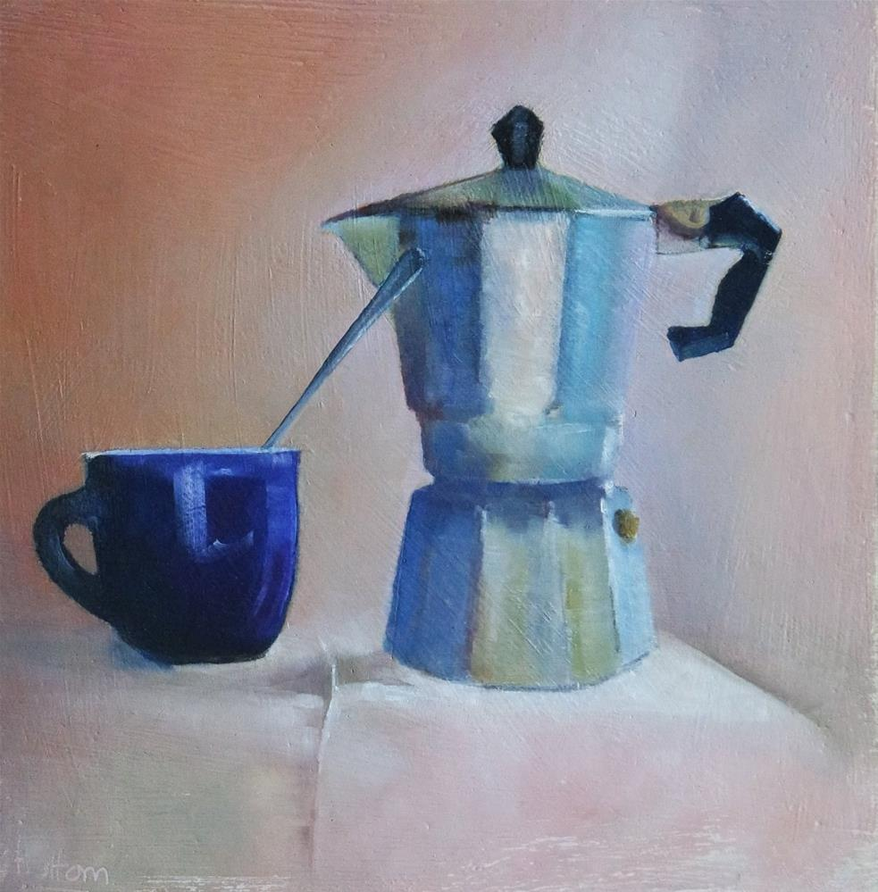 """Morning Coffee"" original fine art by Cathy Holtom"