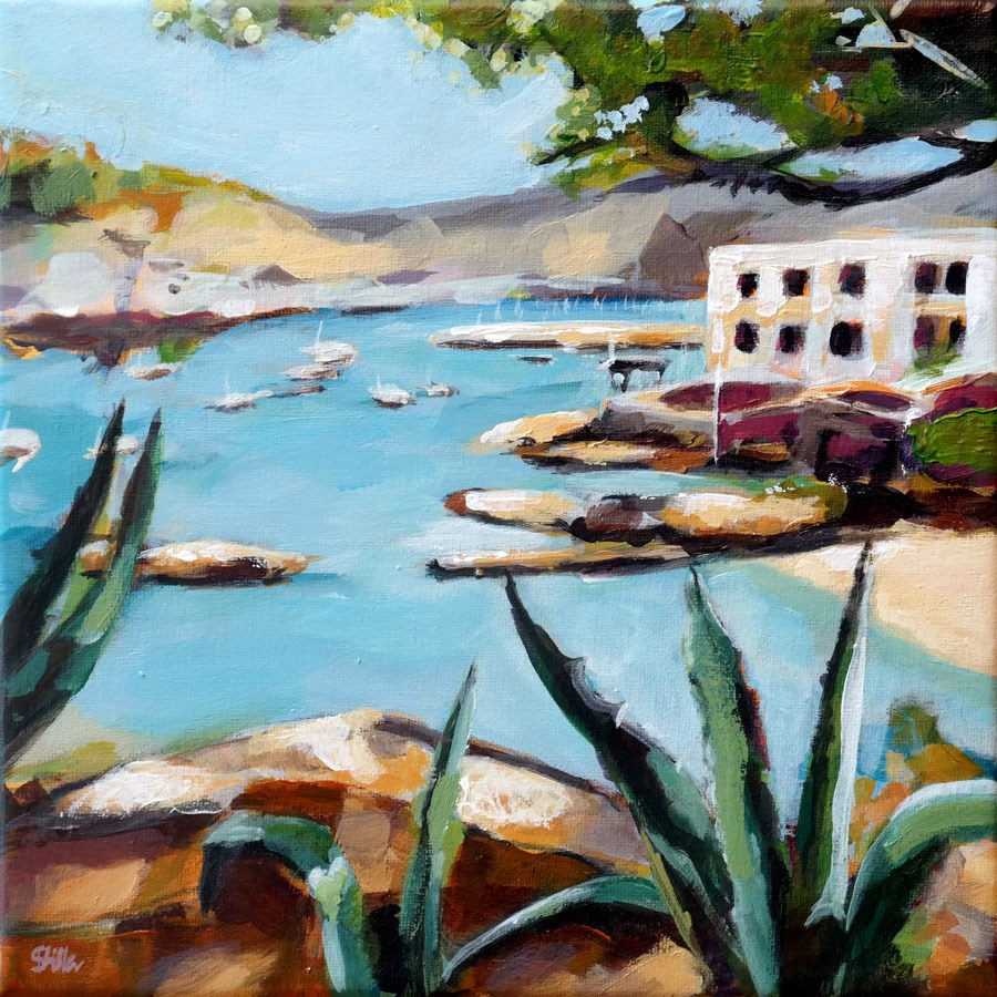 """1077 Port d'Antratx"" original fine art by Dietmar Stiller"