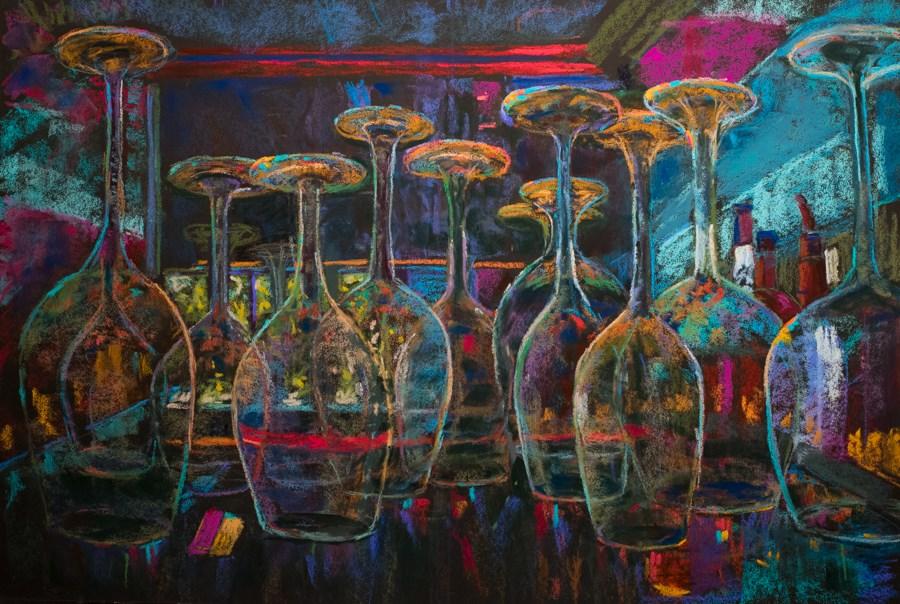 """""""8 2 the Bar"""" original fine art by karen israel"""