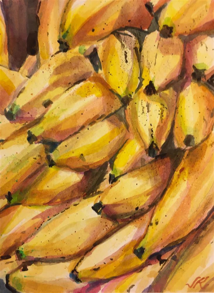 """""""Bananas"""" original fine art by Jean Krueger"""