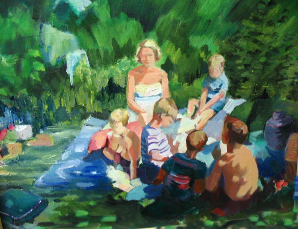 """picnic"" original fine art by meribeth coyne"
