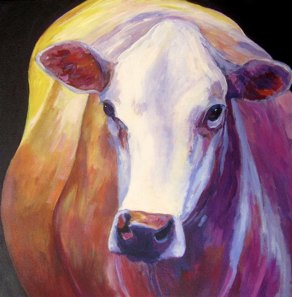 """Moo Cow"" original fine art by Patricia MacDonald"