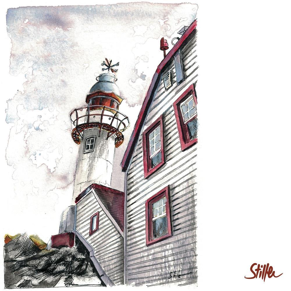 """""""3436 Lobster Cove Head Lighthouse"""" original fine art by Dietmar Stiller"""
