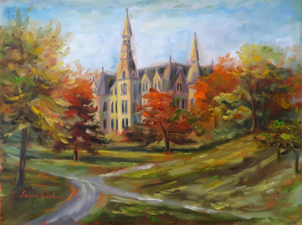 """Autumn at Park University"" original fine art by Tammie Dickerson"