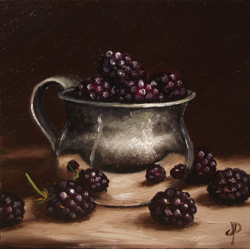 """More Blackberries"" original fine art by Jane Palmer"