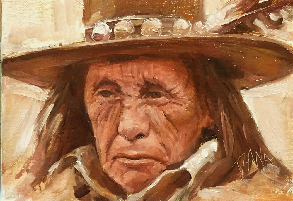 """Native American Portrait Study"" original fine art by Dana Lombardo"