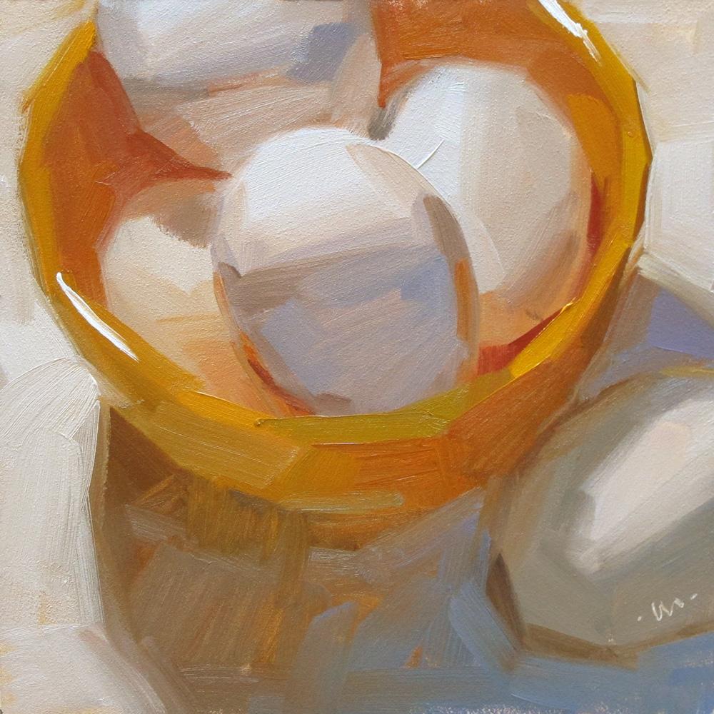 """""""Bowl-Egged"""" original fine art by Carol Marine"""