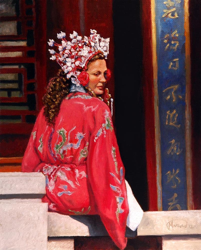 """Woman in Hanfu"" original fine art by Maurice Morgan II"