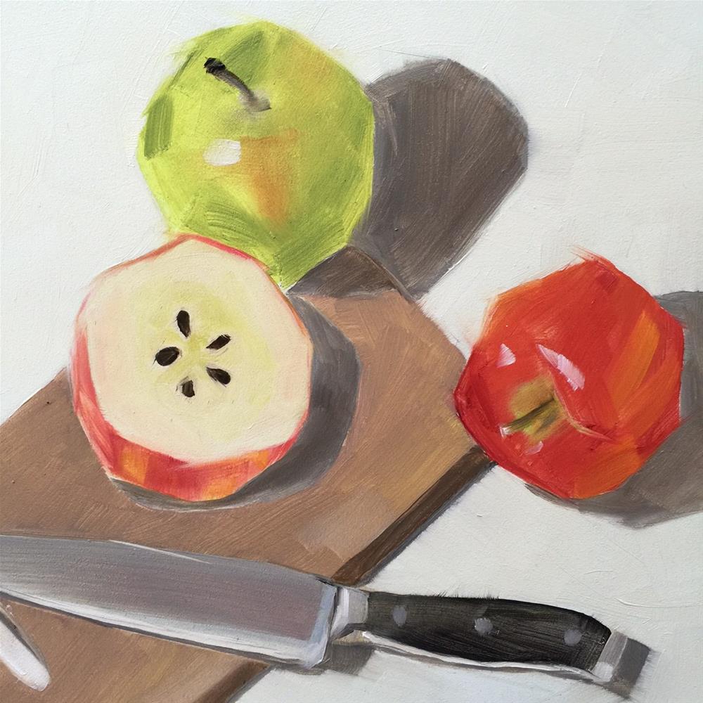 """233 Apple Lover"" original fine art by Jenny Doh"
