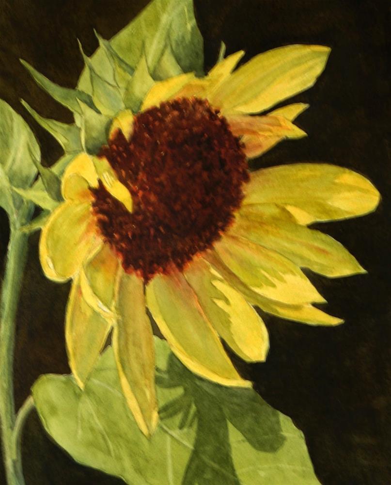 """""""Sunflower Smile"""" original fine art by Vikki Bouffard"""