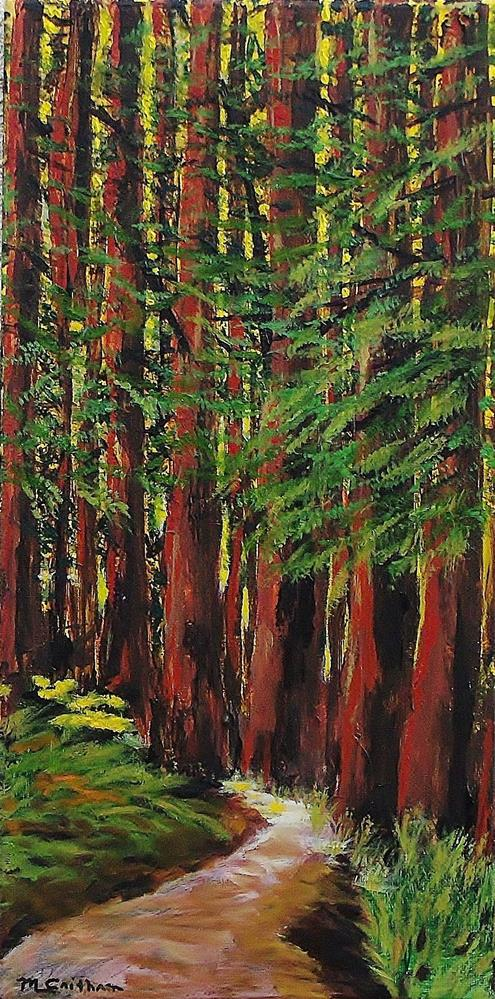 """Redwoods Majestic 1"" original fine art by Mike Caitham"