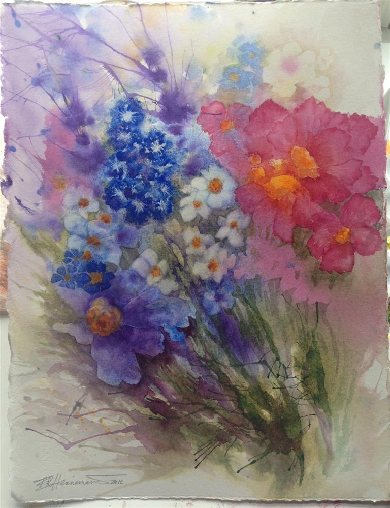 """Blue Bouquet"" original fine art by Eileen Hennemann"