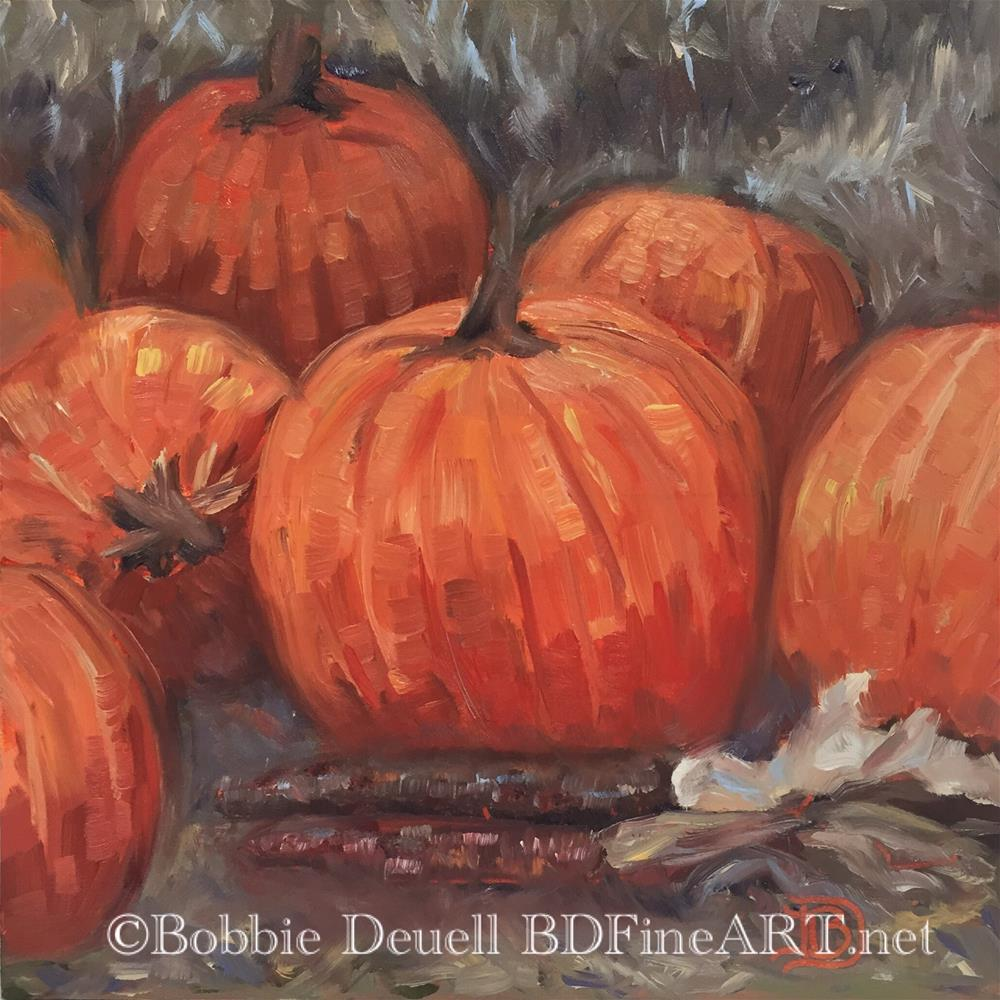 """#50 Pumpkin Time"" original fine art by Bobbie Deuell"