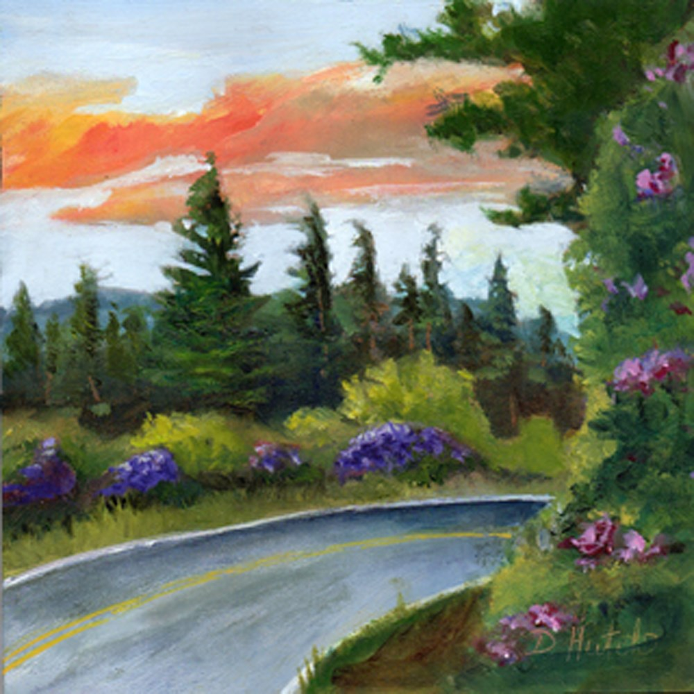 """Blue Ridge Highway"" original fine art by Diane Hutchinson"