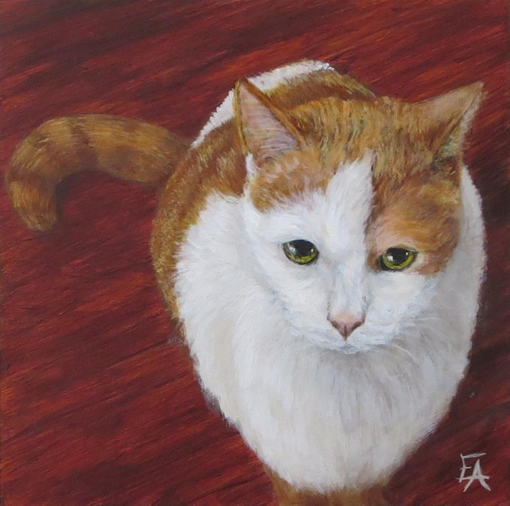 """Garuda Aviary Fundraiser - Mouse the Cat"" original fine art by Elizabeth Elgin"