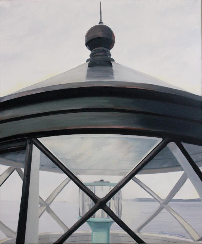 """Rockland Breakwater Lighthouse"" original fine art by Tricia Granzier"