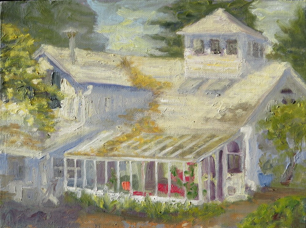 """Jane's House"" original fine art by Richard Kiehn"
