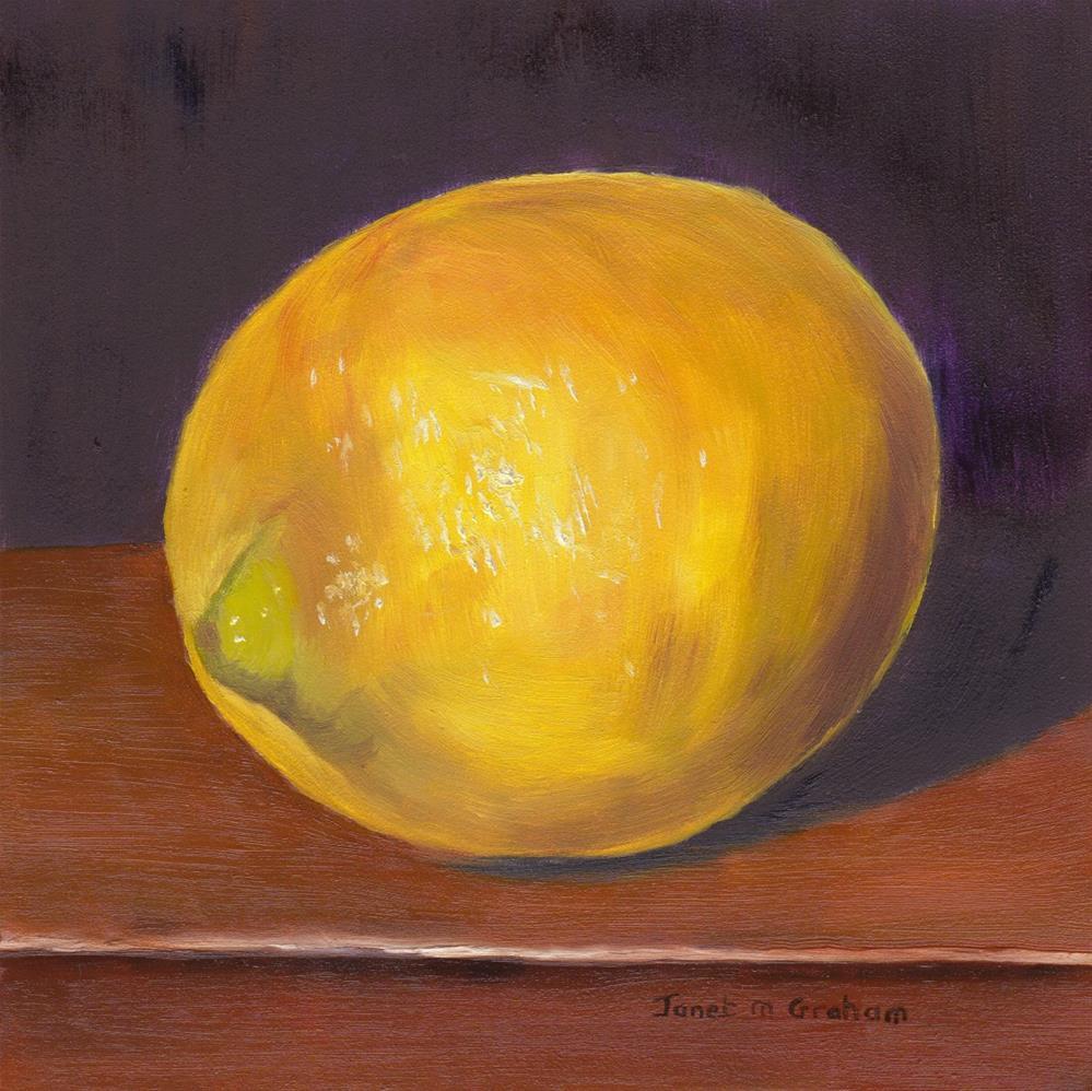 """Lemon"" original fine art by Janet Graham"