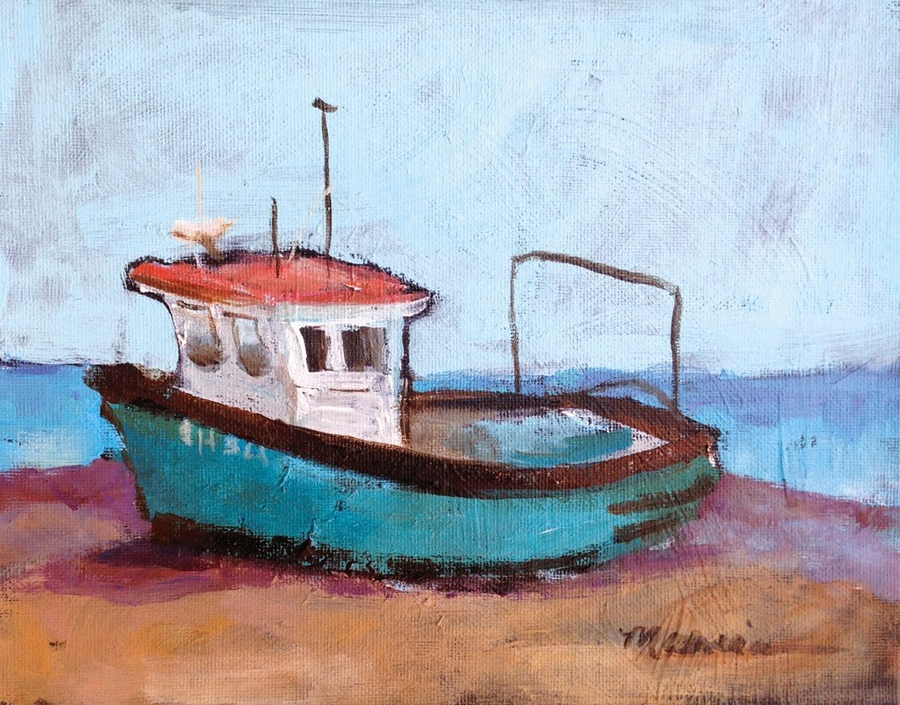 """""""The Old Boat"""" original fine art by Marcia Hodges"""