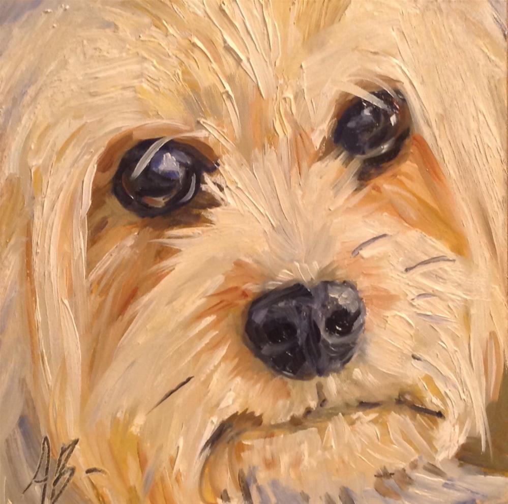 """Pooch face"" original fine art by Annette Balesteri"