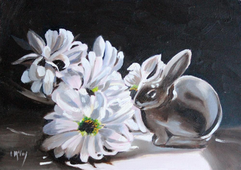 """Rookwood Bunny"" original fine art by Linda McCoy"