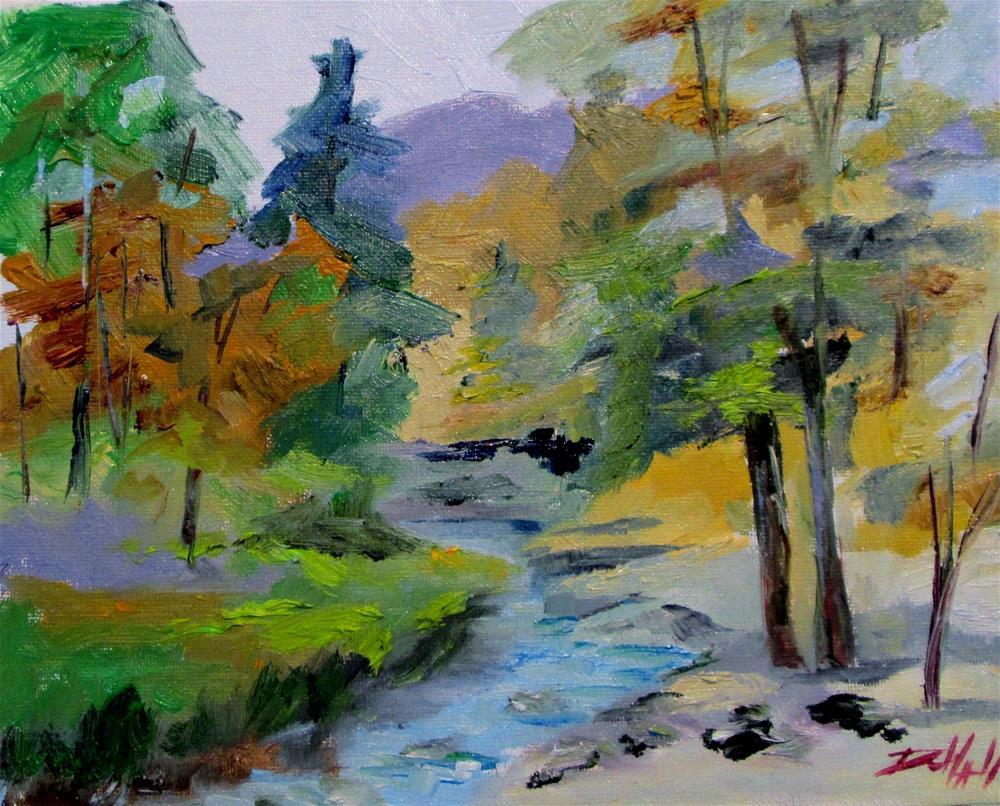 """""""Woodland Stream No. 3"""" original fine art by Delilah Smith"""