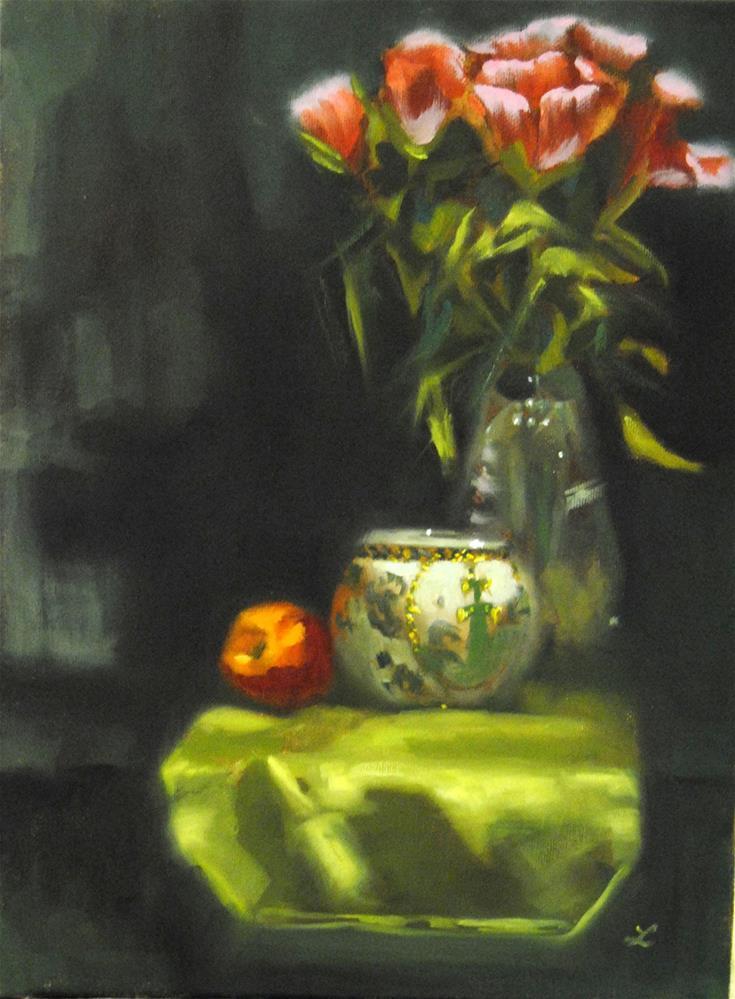 """Glowing Green"" original fine art by Lori Jacobs - Farist"