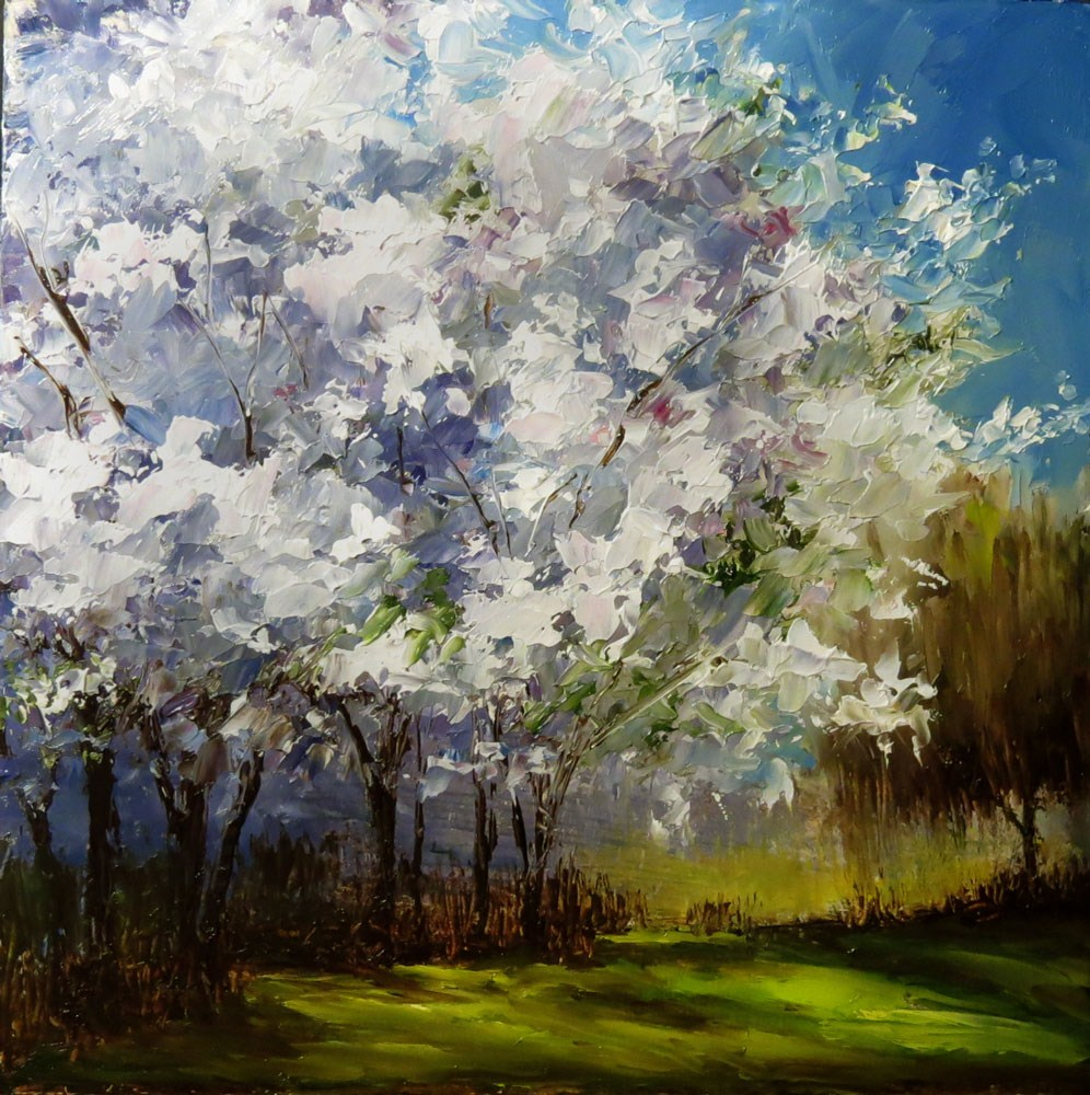 """Lilacs in Bloom"" original fine art by Bob Kimball"