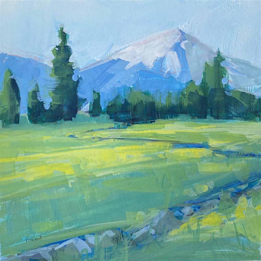 """Mountain Spring"" original fine art by Patti Vincent"
