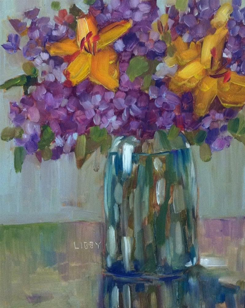"""""""Today's Blooms"""" original fine art by Libby Anderson"""